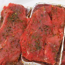 Kerstgourmet: man kiest rundersteak, vrouw kip