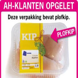 Supers adverteren vaker met goedkope kip