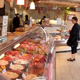 Vlees van Bles in agf-zaak