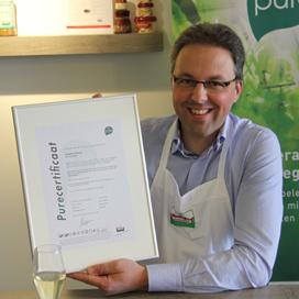Slagerij Wisse ontvangt eerste Pure-Certificaat