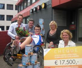 Slagersactie Alpe d'HuZes levert € 17.500 op