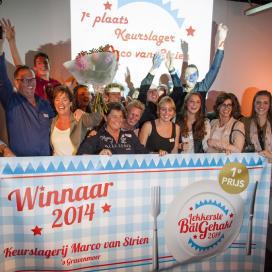 Marco van Strien pakt titel Lekkerste Bal Gehakt 2014