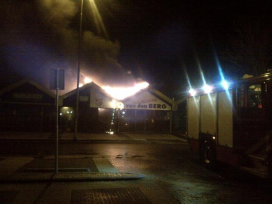 Noodwinkel voor slagers met brand