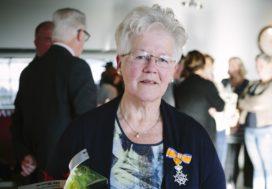 Slagersvakvrouw benoemd tot Ridder in de Orde van Oranje Nassau