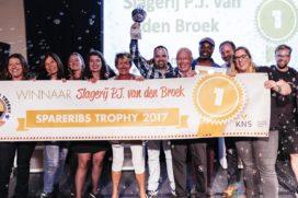Slager Peter Jan van den Broek wint Spareribs Trophy 2017