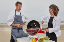 Topchef Alain Alders geeft masterclass Beef on the Beach