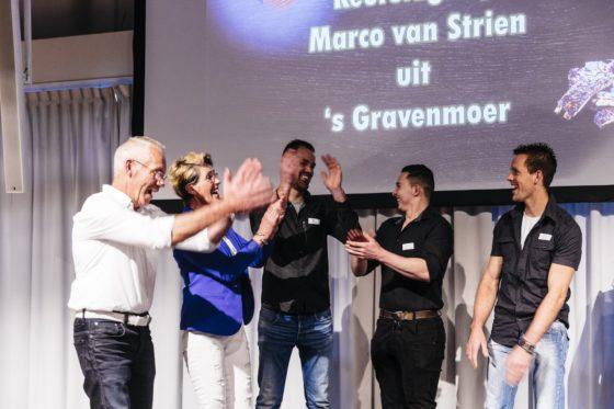 Keurslagerij Marco van Strien hoort dat zij tweede wordt.