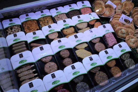 Ook vegetarische producten ontbreken niet op Slavakto. Voor zowel vegetariërs als mensen die een keer een maaltijd zonder vlees of vis willen, heeft Verstegen een lijn producten ontwikkeld voor vegetarische bereidingen.  Foto: Peter Garstenveld