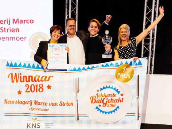 Keurslagerij Marco van Strien win in 2018 de wedstrijd Lekkerste Bal Gehakt. Foto: Feike Faase