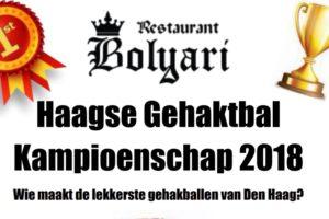 Haagse Gehaktbal Kampioenschap staat voor de deur