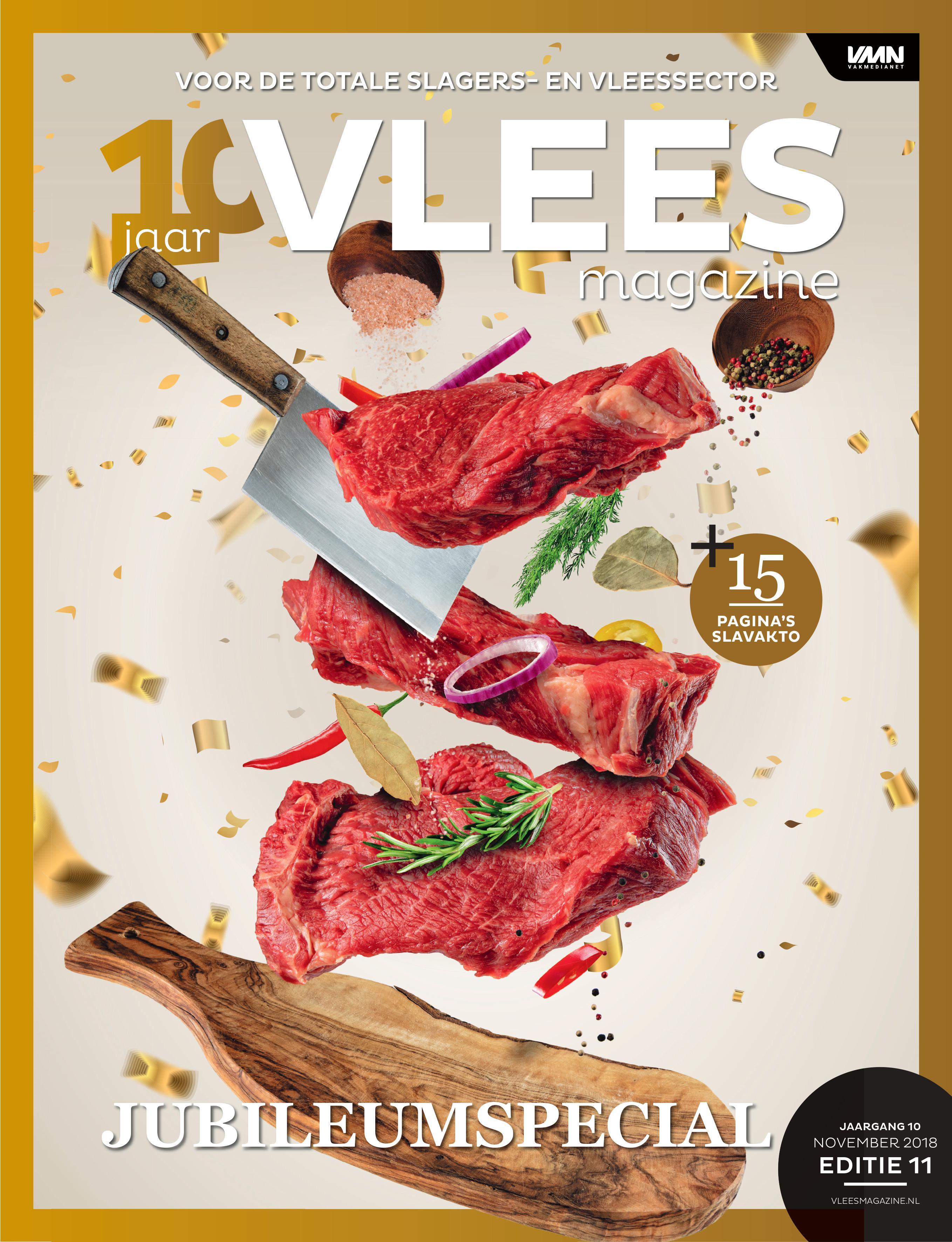 Vleesmagazine nummer 11 2018 – Jubileumspecial