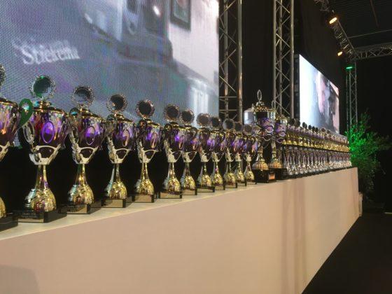 Op de tweede dag van de beurs zijn alle bekers uitgereikt aan de deelnemers aan de vakwedstrijden. Foto: Marijke Buijs