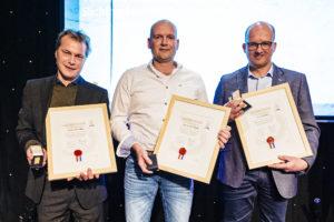 Drie slagers met hoogste titel in branche