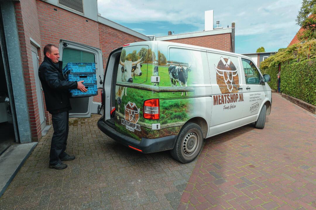 Meatshop.nl bezorgt vleesproducten in een straal van circa 20 kilometer rondom Baarto